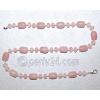 Бусы из натурального розового кварца 'Любимый антураж'