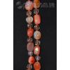 Длинные бусы из натурального камня сердолика с чешским стеклом