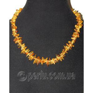 Бусы из натурального янтаря 'Прозрачное золото'