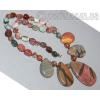 Бусы ожерелье из натуральной яшмы 'Весна-красна'