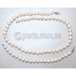 Комплект: бусы и браслет из натурального жемчуга 'Жасмин'