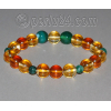 Браслет из натуральных камней цитрина, агата и янтаря