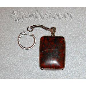 Брелок для ключей из натурального обсидиана №1095