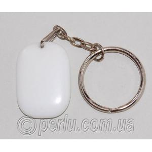 Брелок для ключей из натурального белого агата №56851