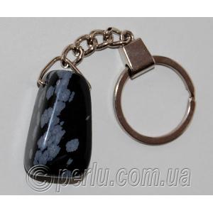 Брелок для ключей из натурального обсидиана №58893