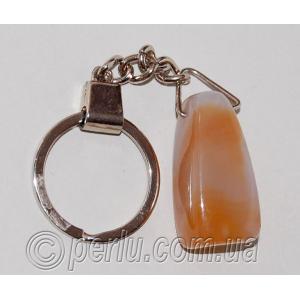 Брелок для ключей из натурального сердолика №58894