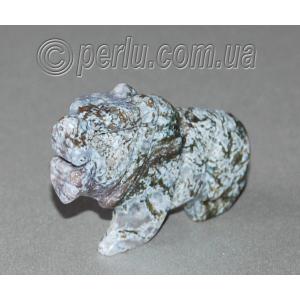 Сувенир из натурального камня тибетской яшмы 'Смелость и удача'