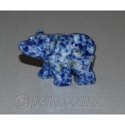Сувенир из натурального содалита 'Полярный медведь'