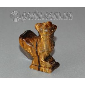 Сувенир из натурального камня тигровый глаз 'Золотой гребешок'