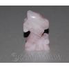 """Сувенир из натурального камня розовый кварц """"Нежность"""""""