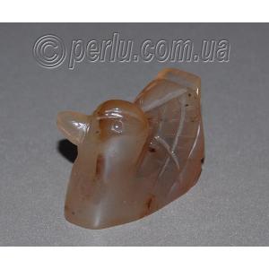 Сувенир из натурального камня агата 'Дикая уточка'