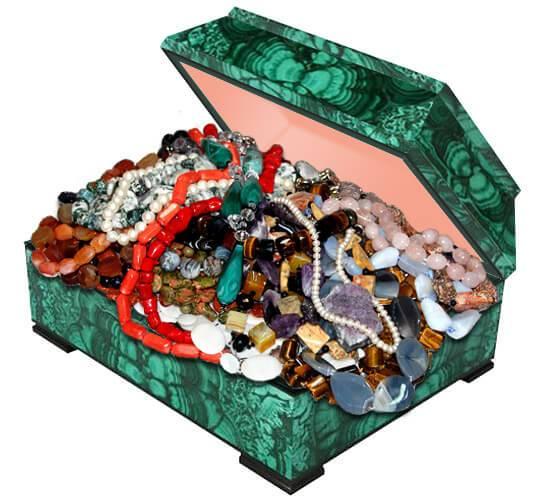Купить украшения из натуральных камней в магазине Малахитовая Шкатулка
