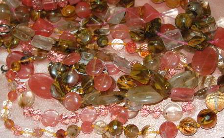 Украшения из натурального камня халцедона фото