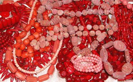 Украшения из натурального коралла. Фото.