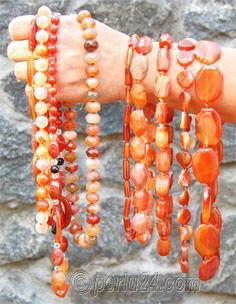 Фото украшений из натурального камня сердолика