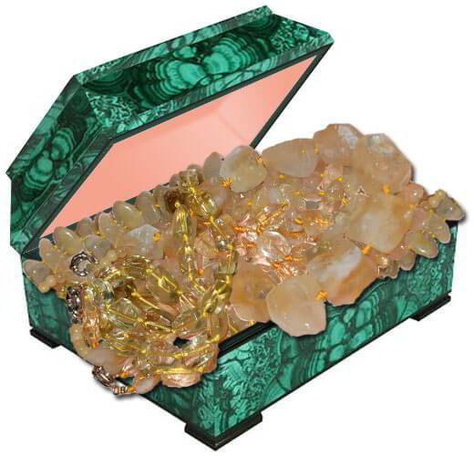 Фото бусы украшения из натурального камня цитрина
