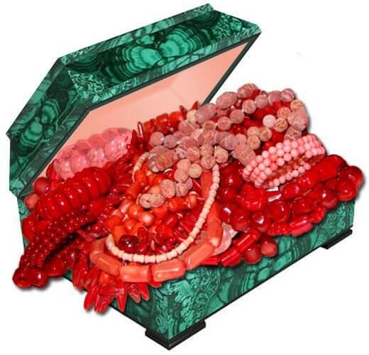 Бусы из натурального коралла купить в Украине в интернет магазине по лучшей цене. Коралл фото и свойства.
