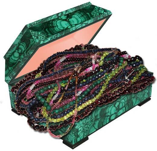 Бусы из драгоценных камней купить в Украине. Драгоценные камни рубин изумруд сапфир фото и свойства
