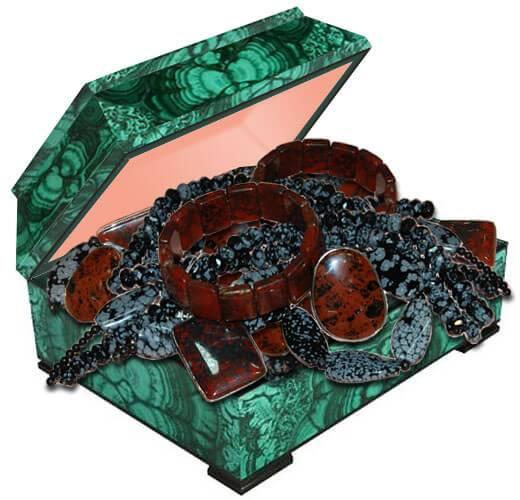 Бусы из натурального камня обсидиан купить в Украине. Обсидиан камень фото, магические и лечебные свойства
