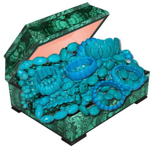 Бусы украшения из натурального камня бирюза купить в Украине. Камень бирюза фото и свойства.