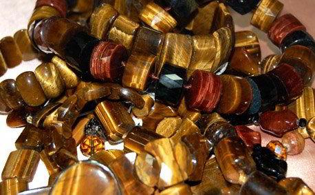 Изделия украшения из натурального камня тигровый глаз купить в Украине